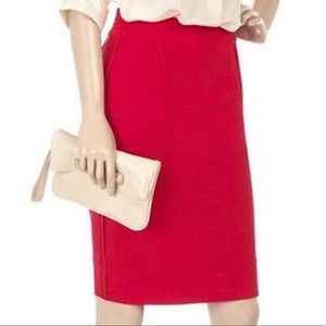 Stella McCartney Knit Red Pencil Skirt